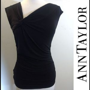 Ann Taylor XS Twist Knot Sleeveless Blouse Top